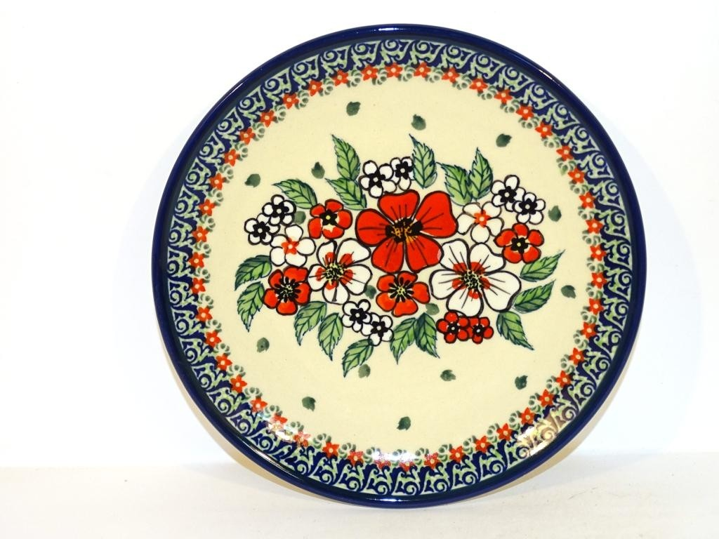 "Polish Pottery 7.75"" EMPRESS Stoneware Salad Plate | UNIKAT"