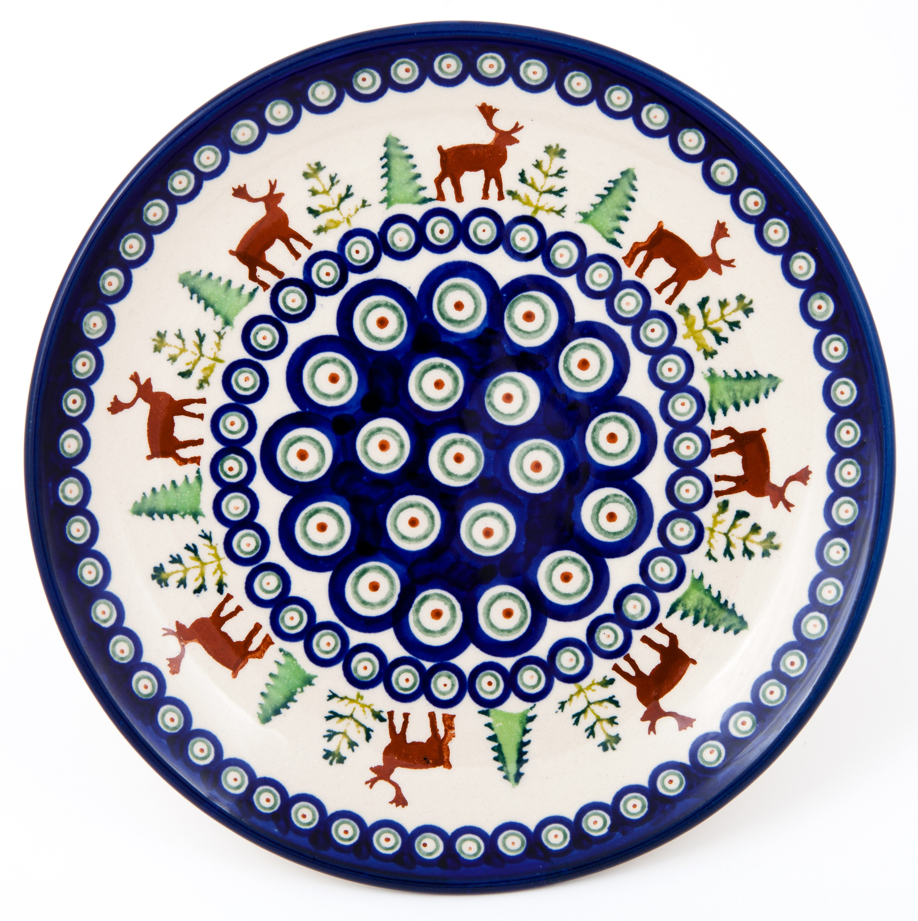 "Pottery Avenue 8-inch Lunch-Salad Plate 1"" Tall - Standing View - 814-992A Caribou Lodge"
