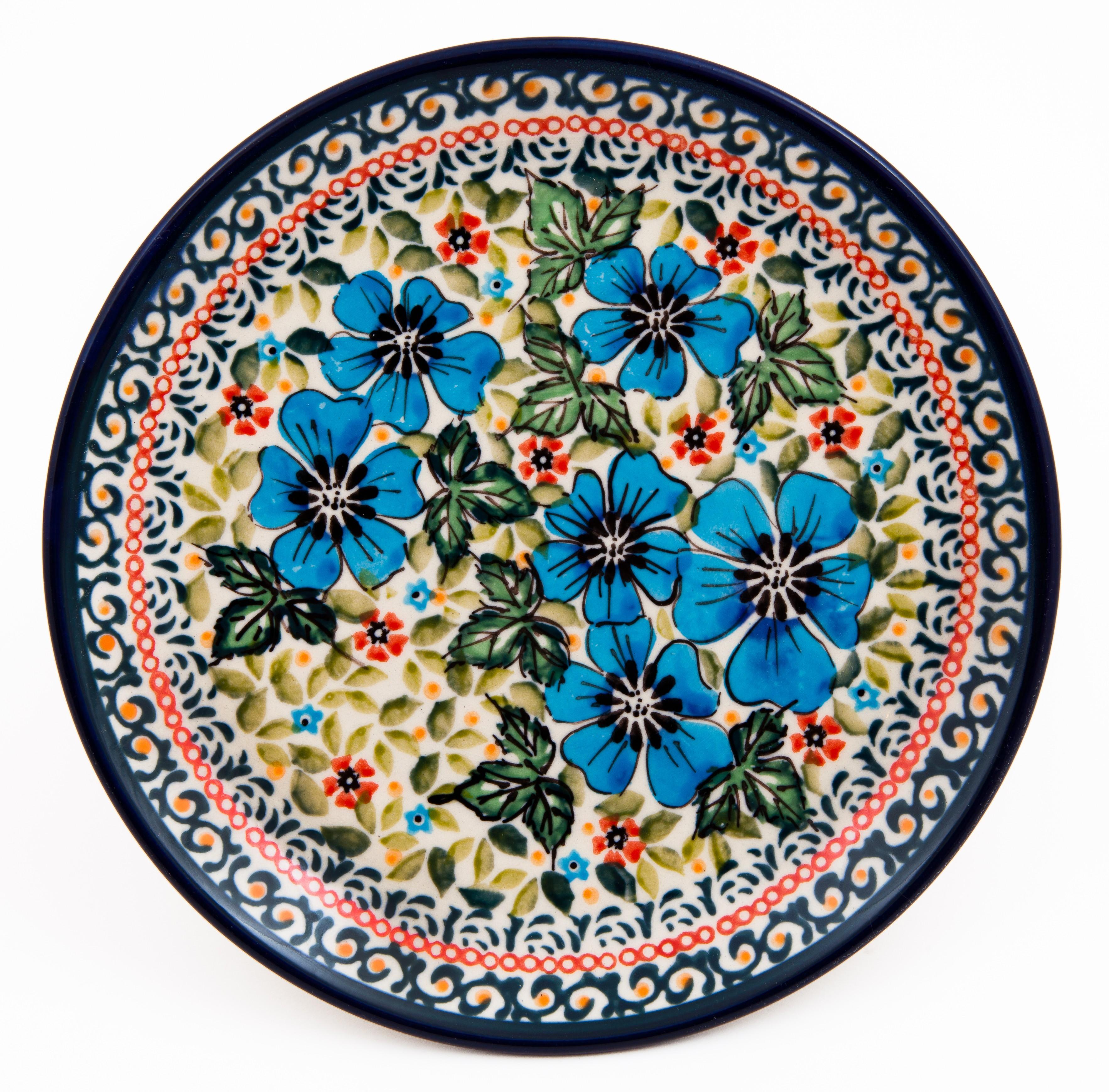"Polish Pottery FIELD OF DREAMS 7.75"" Stoneware Salad Plate | EX UNIKAT"