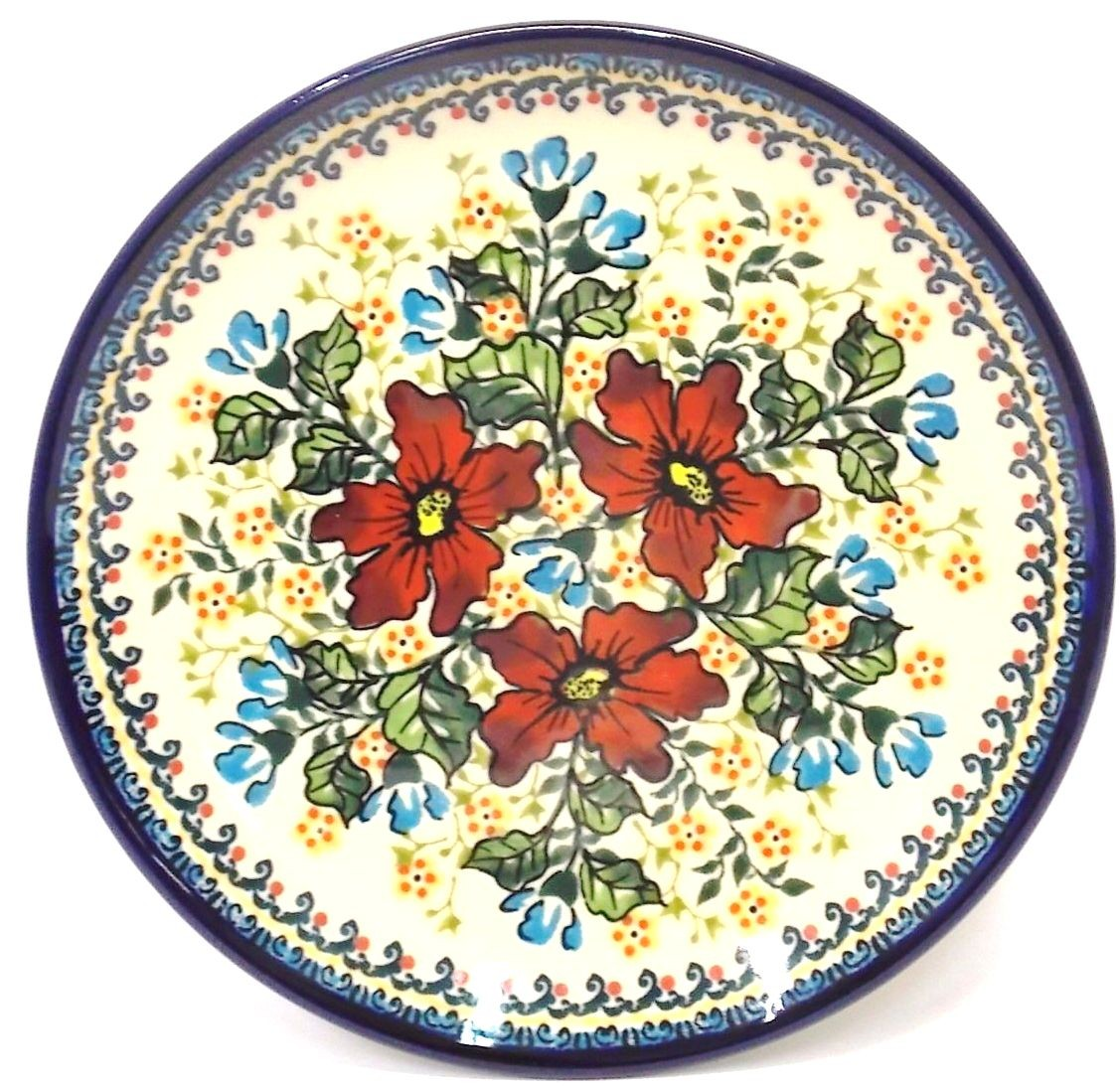 "Polish Pottery  7.75"" WARM GLORY Stoneware Salad Plate | EX UNIKAT"