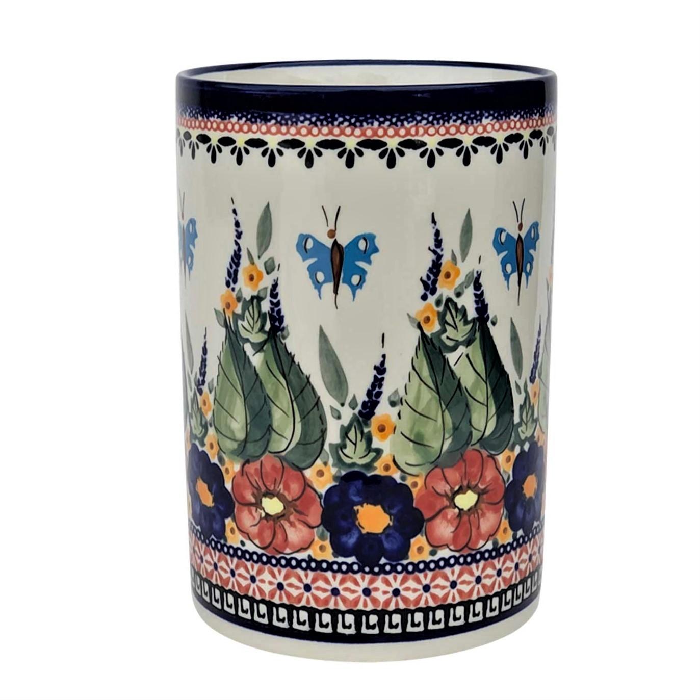 Pottery Avenue Utensil Jar-Bottle Chiller - 832-149AR Butterfly Merry Making
