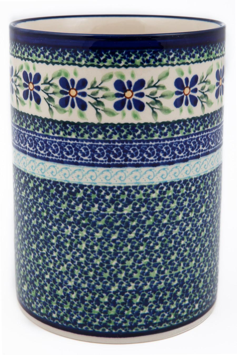 "Polish Pottery 7"" Utensil Jar-Bottle Chiller - 832-DU121 Dearest Friend"