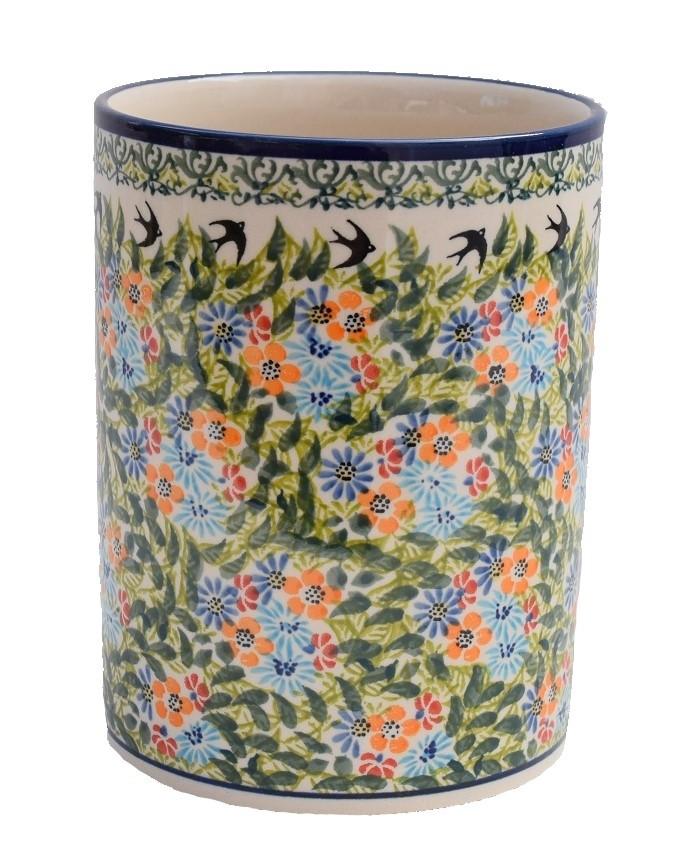 """Pottery Avenue 7"""" Stoneware Utensil-Jar-Bottle Chiller  - 832-DU182 Sparrow"""