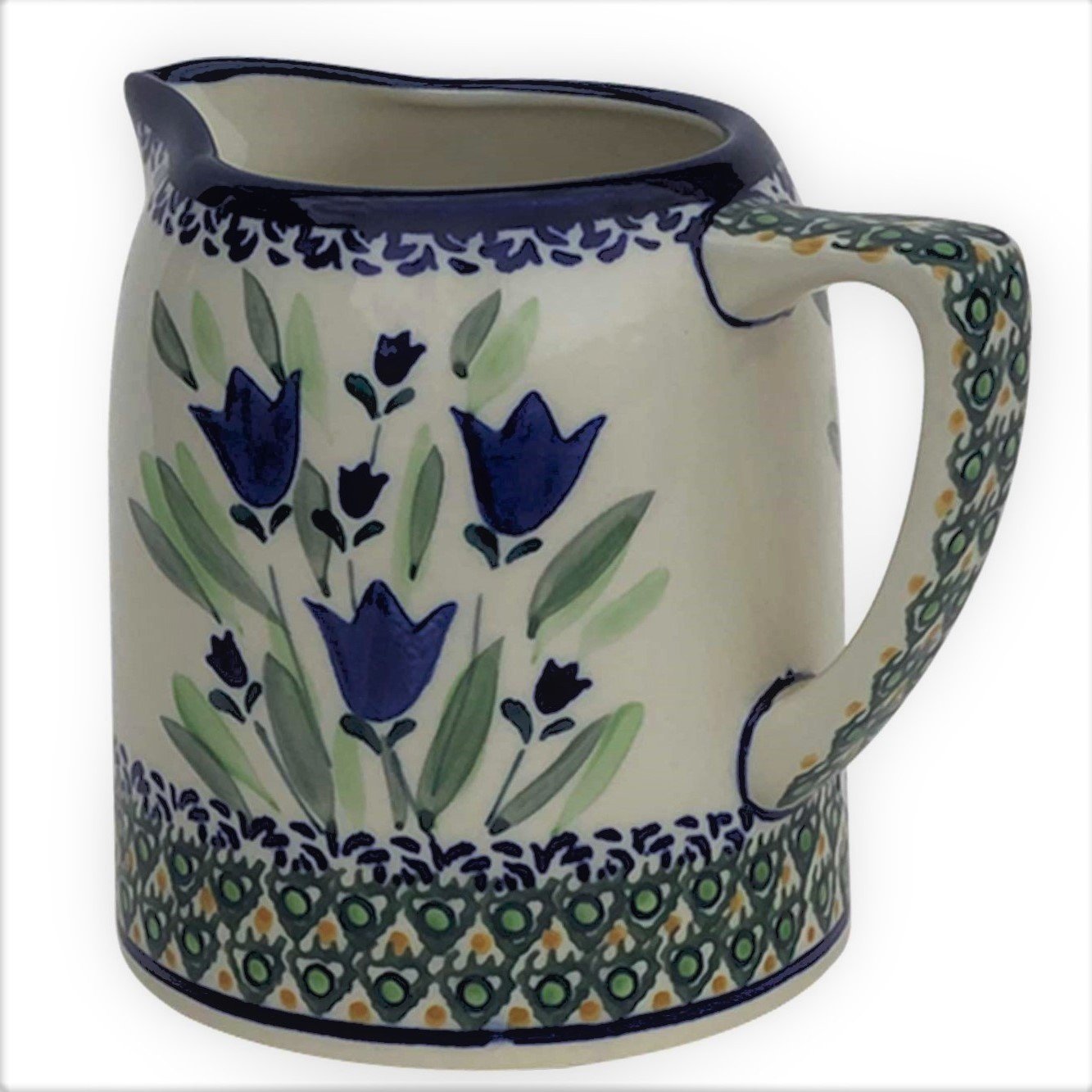 Pottery Avenue 7L Cylinder Stoneware Pitcher - 841-160AR BLUE TULIP