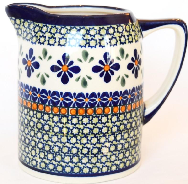 Polish Pottery SWEETIE PIE .7L Cylinder Stoneware Pitcher | ARTISAN