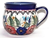 Polish Pottery BUTTERFLY MERRY MAKING 10.8-oz Stoneware Bubble Mug | UNIKAT