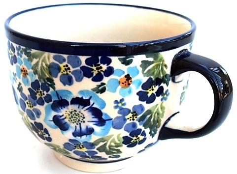 Pottery Avenue True Blues 17oz Cappuccino-Soup Stoneware Cup