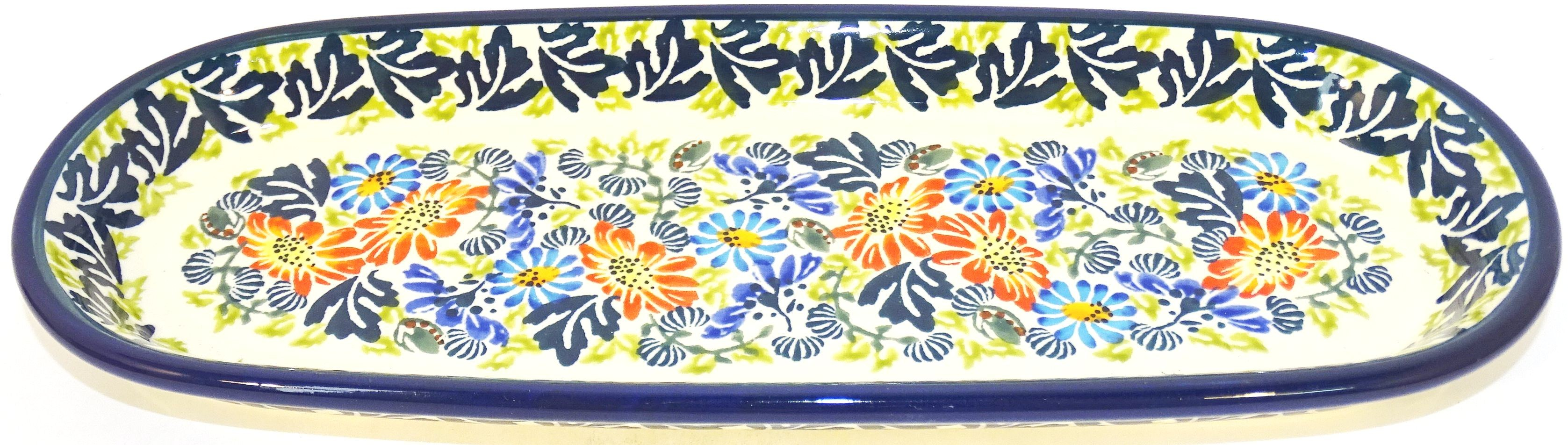 "Pottery Avenue 11"" BLISS Cracker-Olive Stoneware Tray 