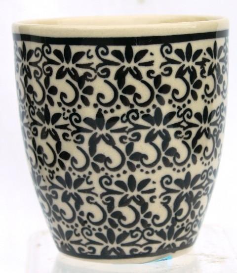 Polish Pottery ELEGANT TIMES 6-oz Stoneware Cup |CLASSIC