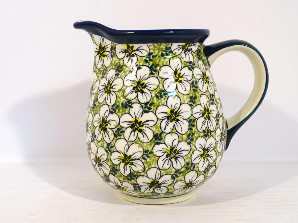 Pottery Avenue 28-oz UNIKAT Stoneware Pitcher - 951-328AR Bacopa