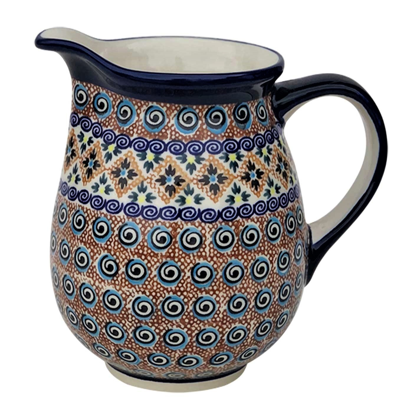 Pottery Avenue 28-ounce Stoneware Pitcher-Vase - 951-DU193 India