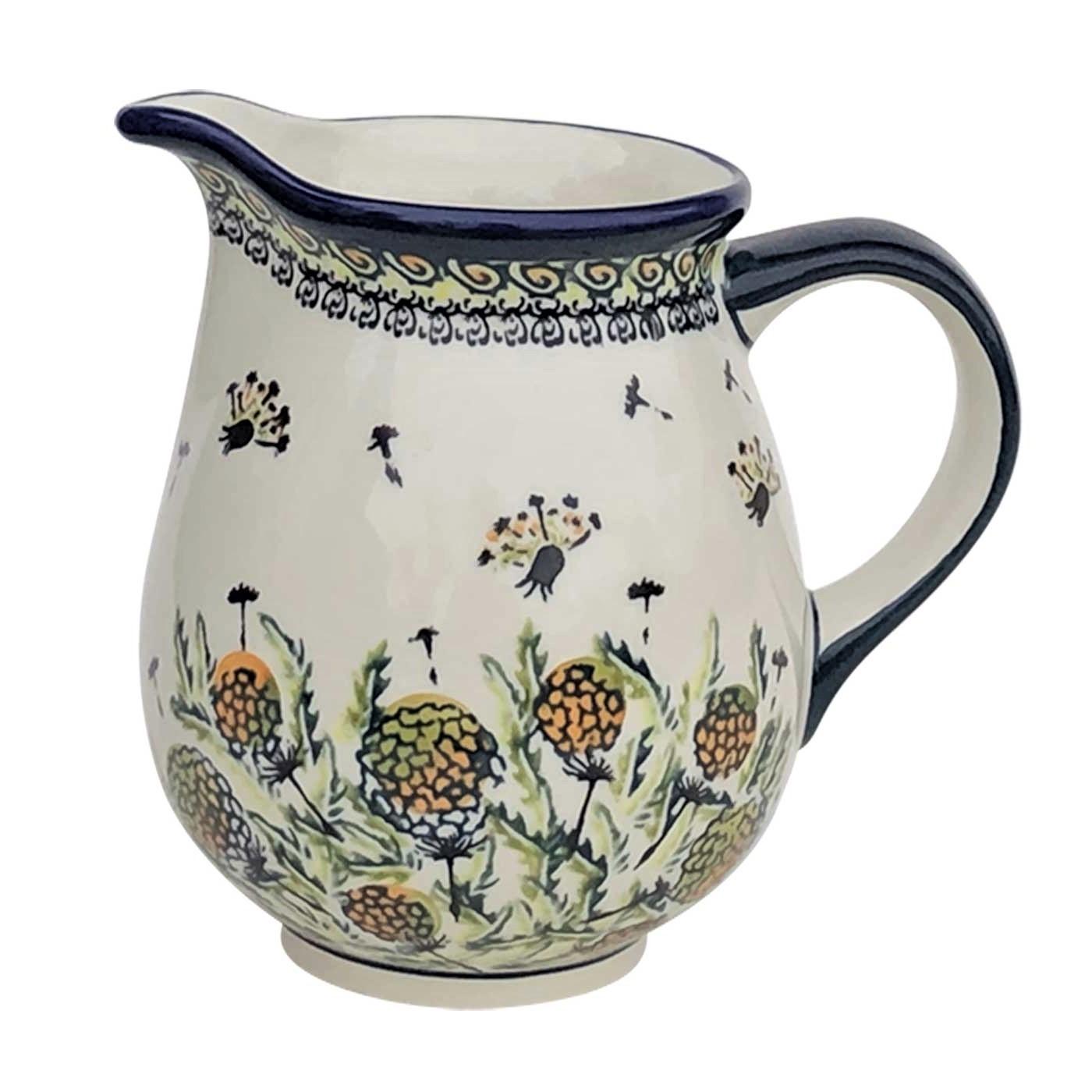 Pottery Avenue 28oz Medium Stoneware Pitcher - 951-DU183 Wishful