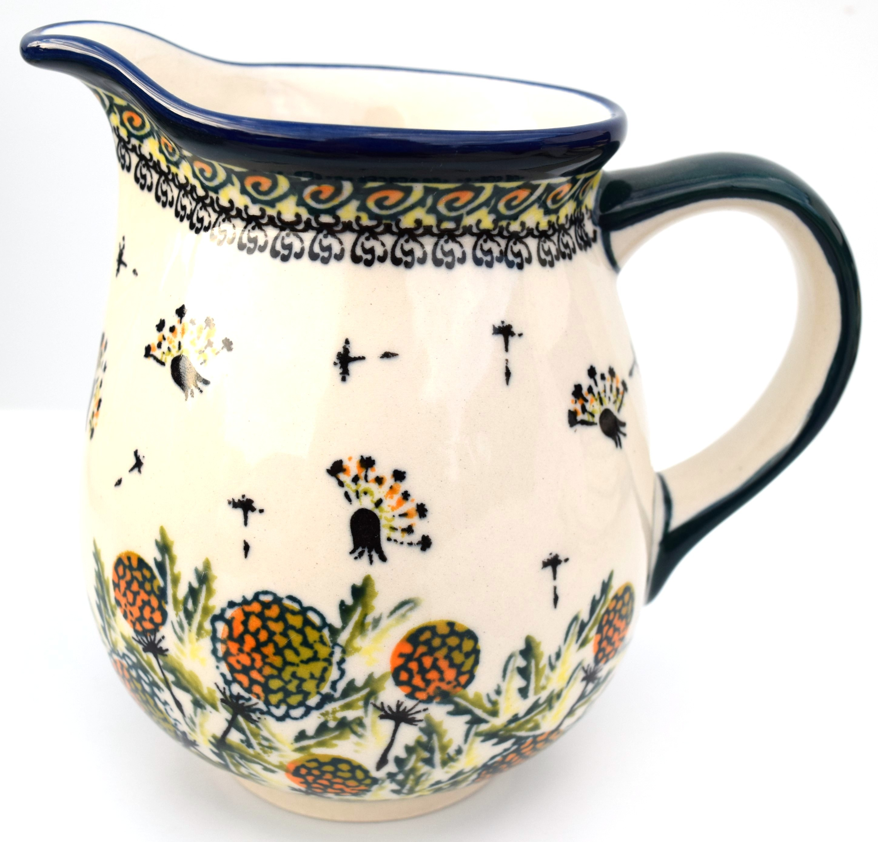 Pottery Avenue 28oz Medium Stoneware Pitcher - 951-DU183 Wishful