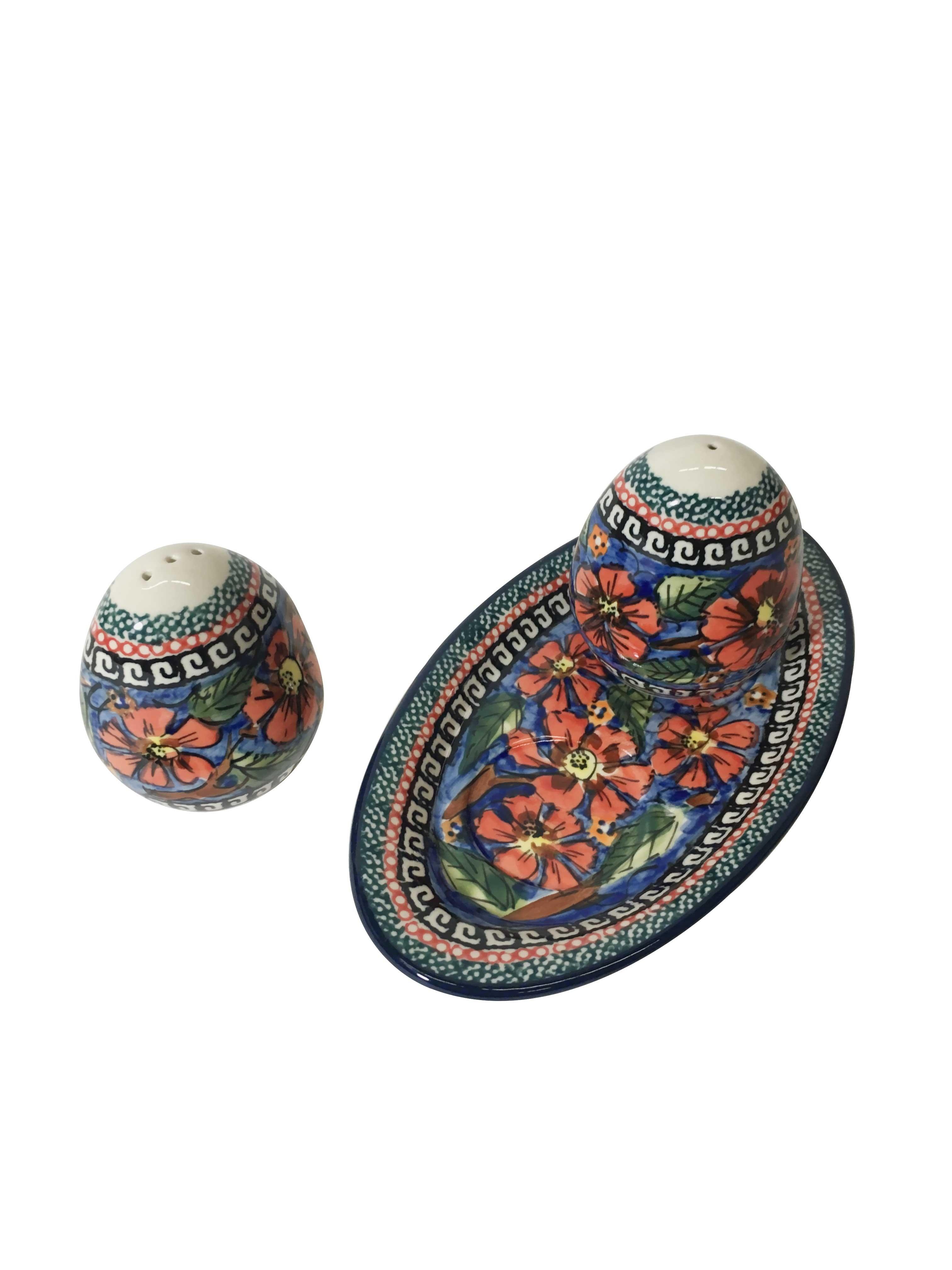 Pottery Avenue Cherished Friends 3pc Stoneware Salt and Pepper Trio Set
