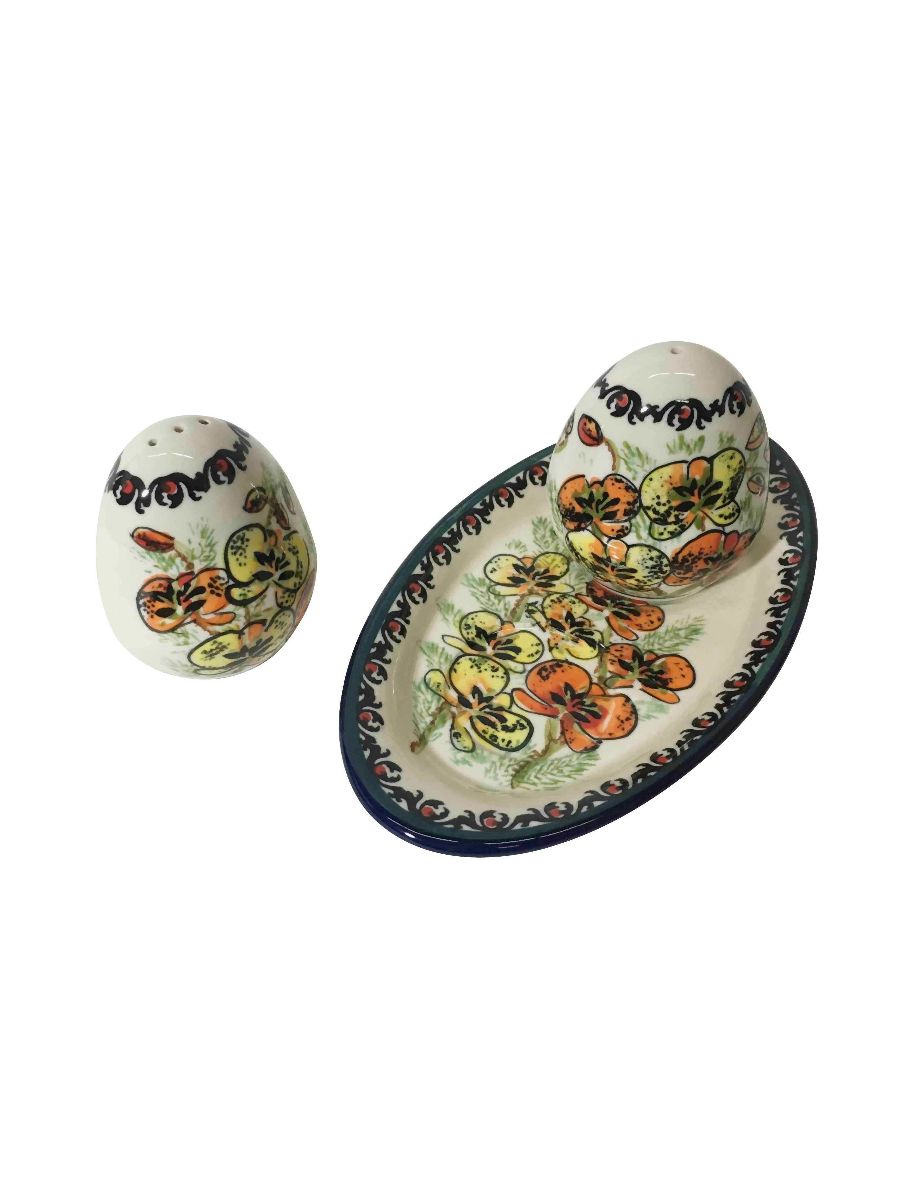Pottery Avenue Orchid 3pc Stoneware Salt and Pepper Trio Set - 962-961-315AR Orchid