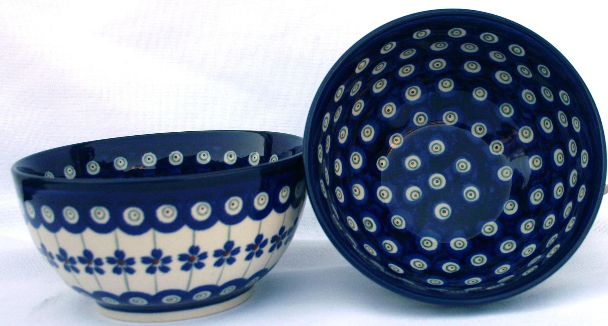 Pottery Avenue Flower Peacock 2cp Stoneware Cereal Bowl