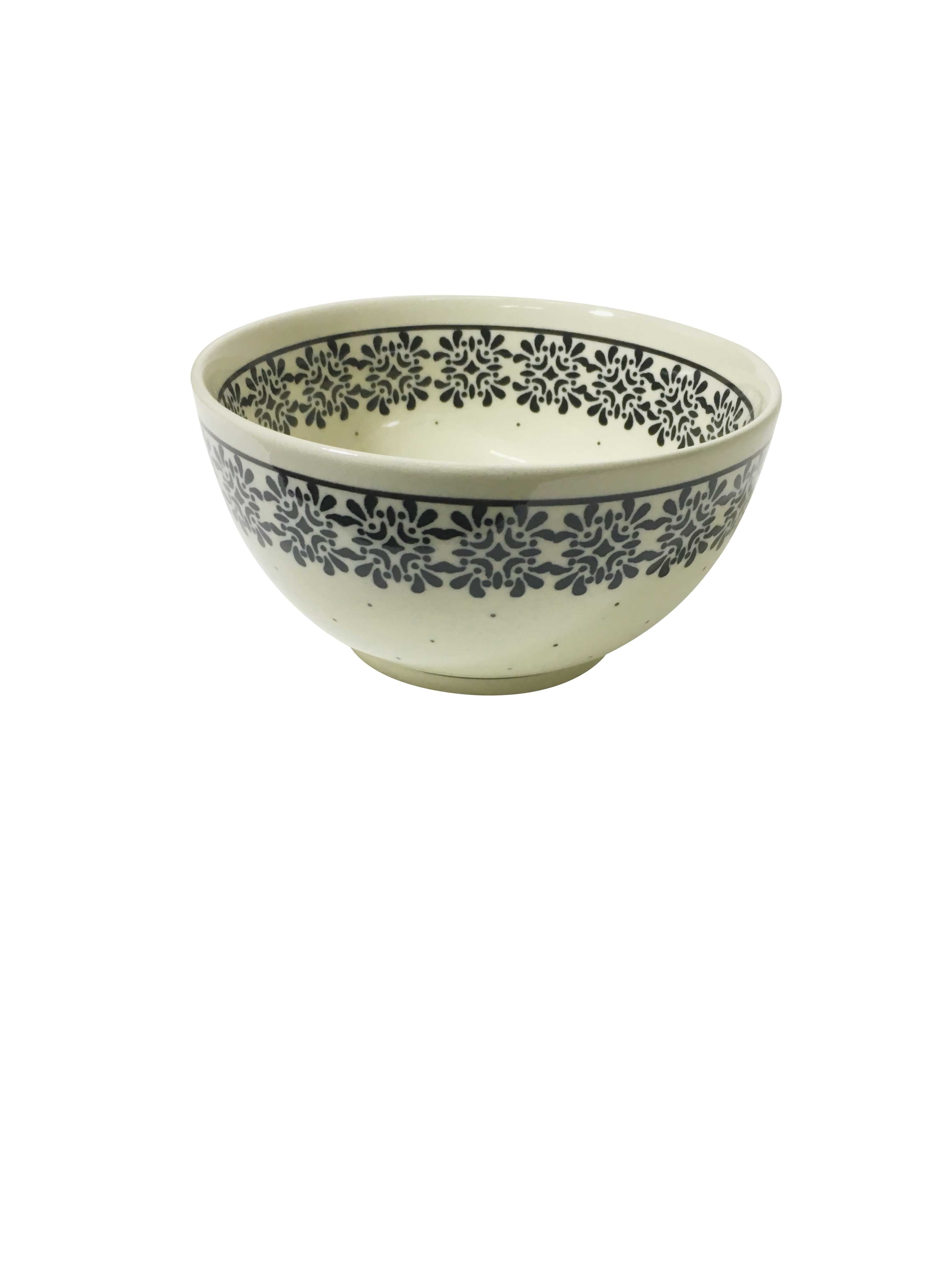 Pottery Avenue Trendy Times 2 cup Stoneware Cereal Bowl