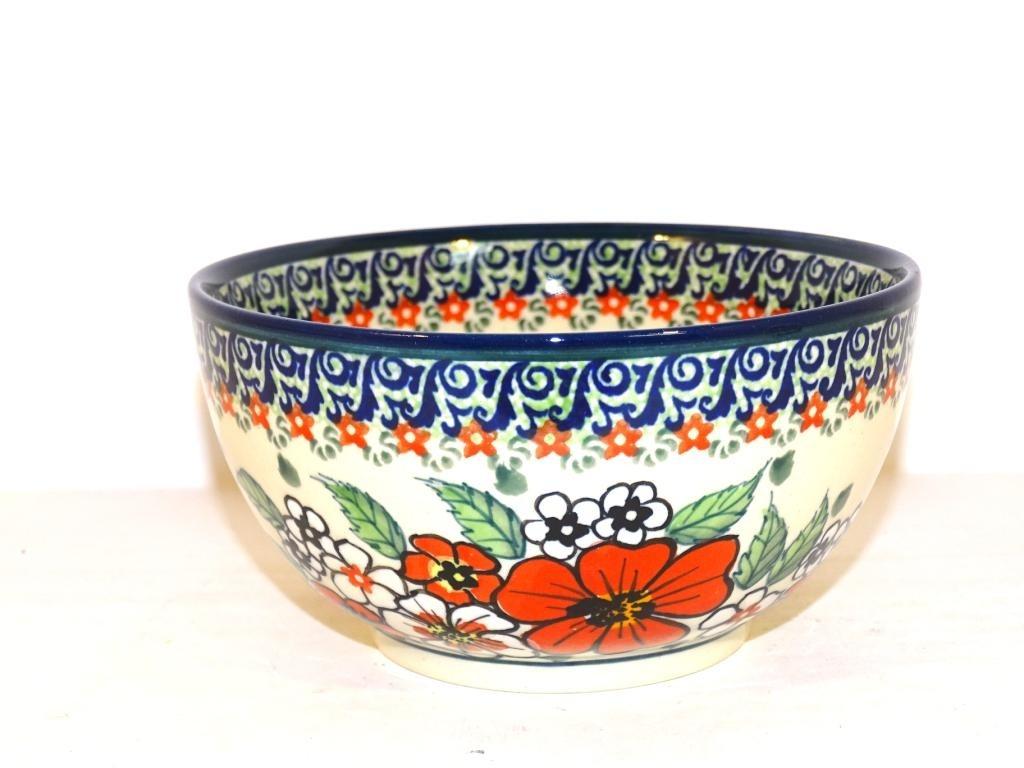 Polish Pottery 2 Cup EMPRESS Stoneware Cereal Bowl | UNIKAT