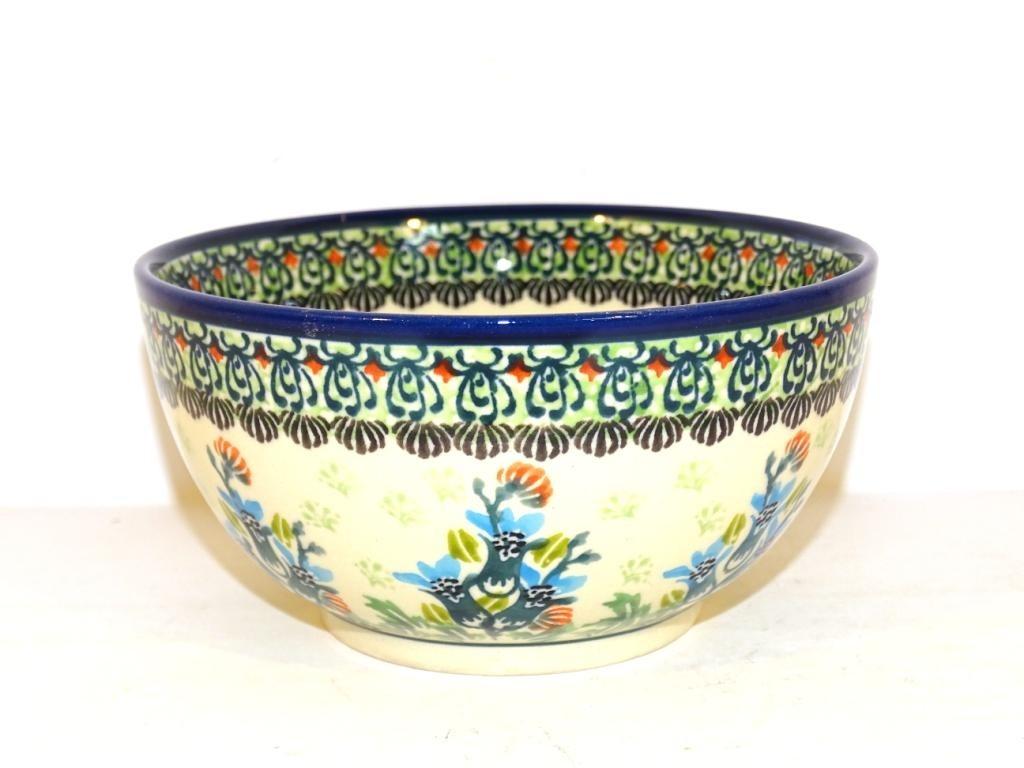 Polish Pottery SEA GARDEN 2-Cup Stoneware Cereal-Salad Bowl | ARTISAN