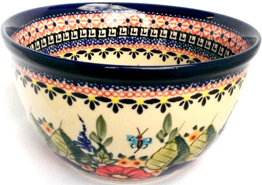 "Pottery Avenue Butterfly Merry Making 6"" Stoneware Mixing Bowl (SM)"