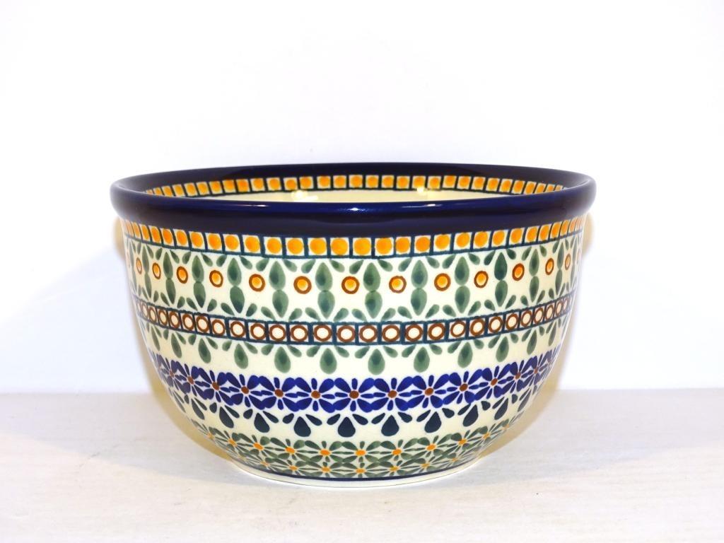 "Polish Pottery 6"" ENCHANTING Mixing Bowl   ARTISAN"