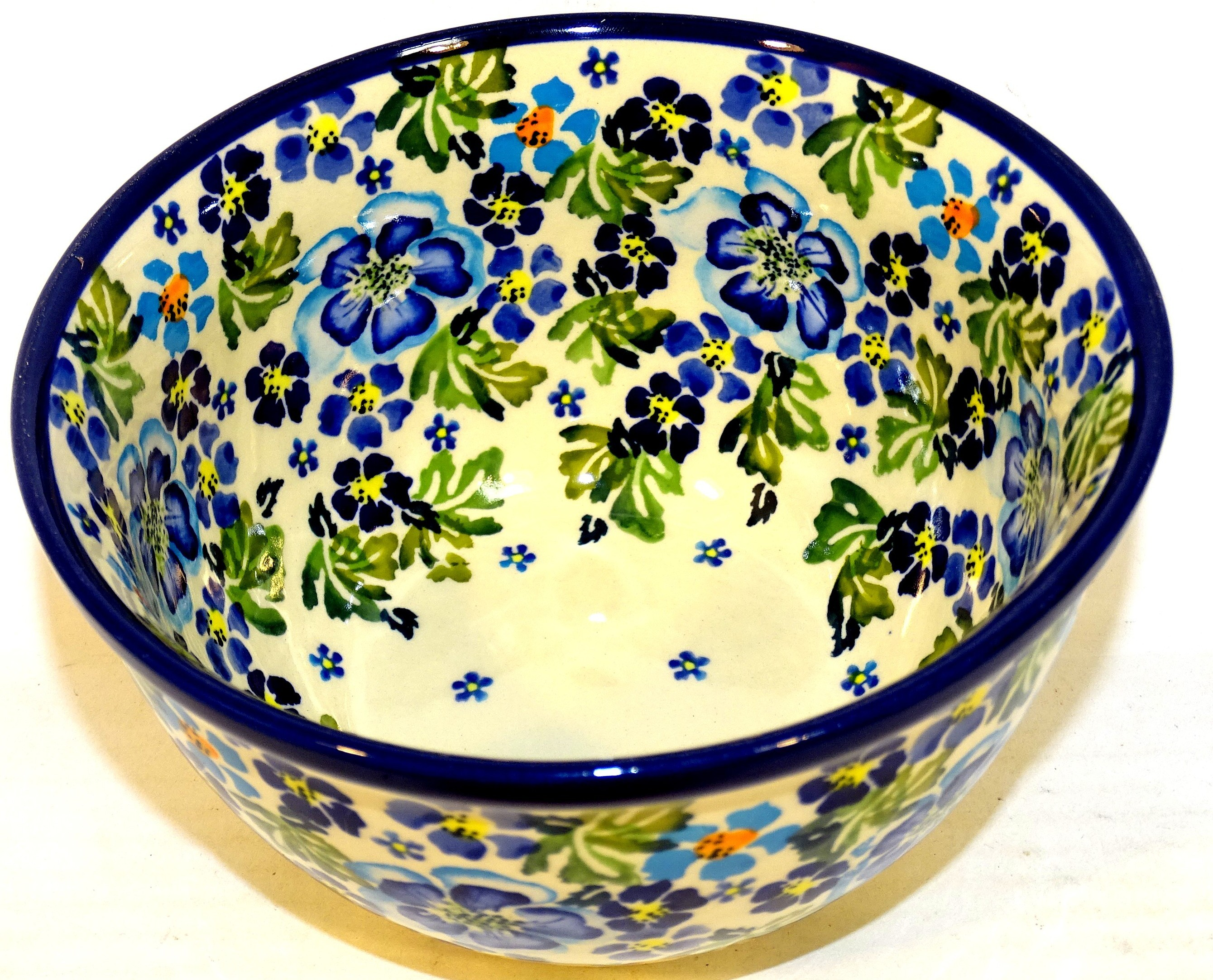 "Pottery Avenue True Blues 6"" Stoneware Mixing Bowl (SM)"