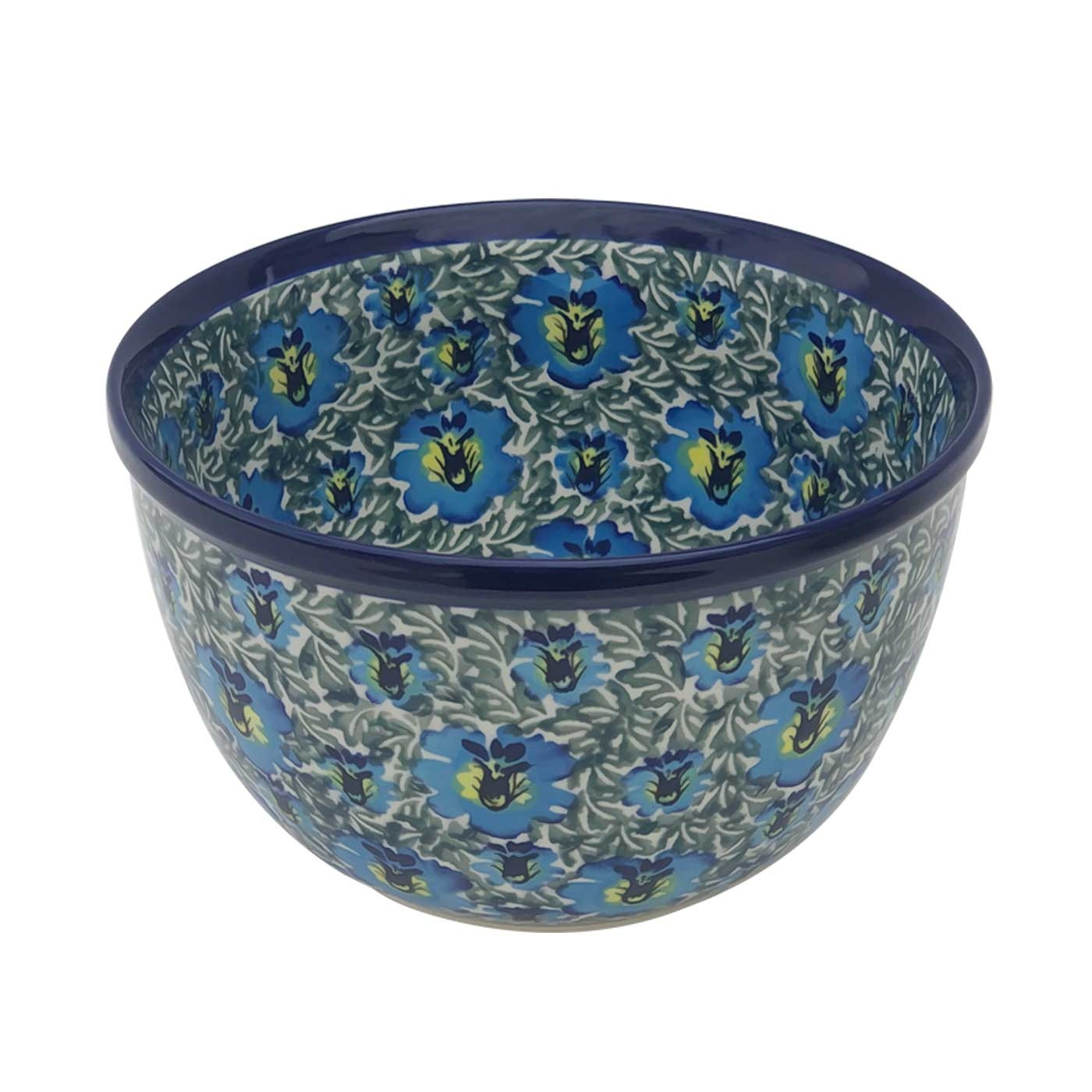 Pottery Avenue 9-Cup Stoneware Mixing Bowl -985-313AR Blue Lagoon