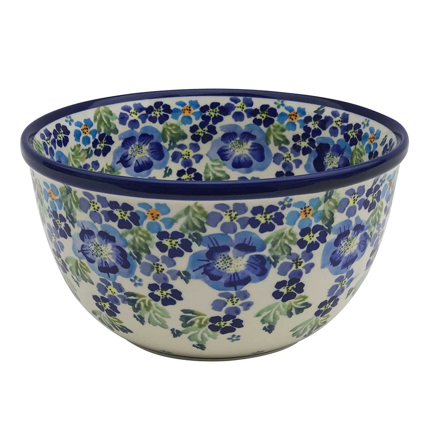 "Pottery Avenue True Blues 8"" Stoneware Mixing Bowl (MD)"