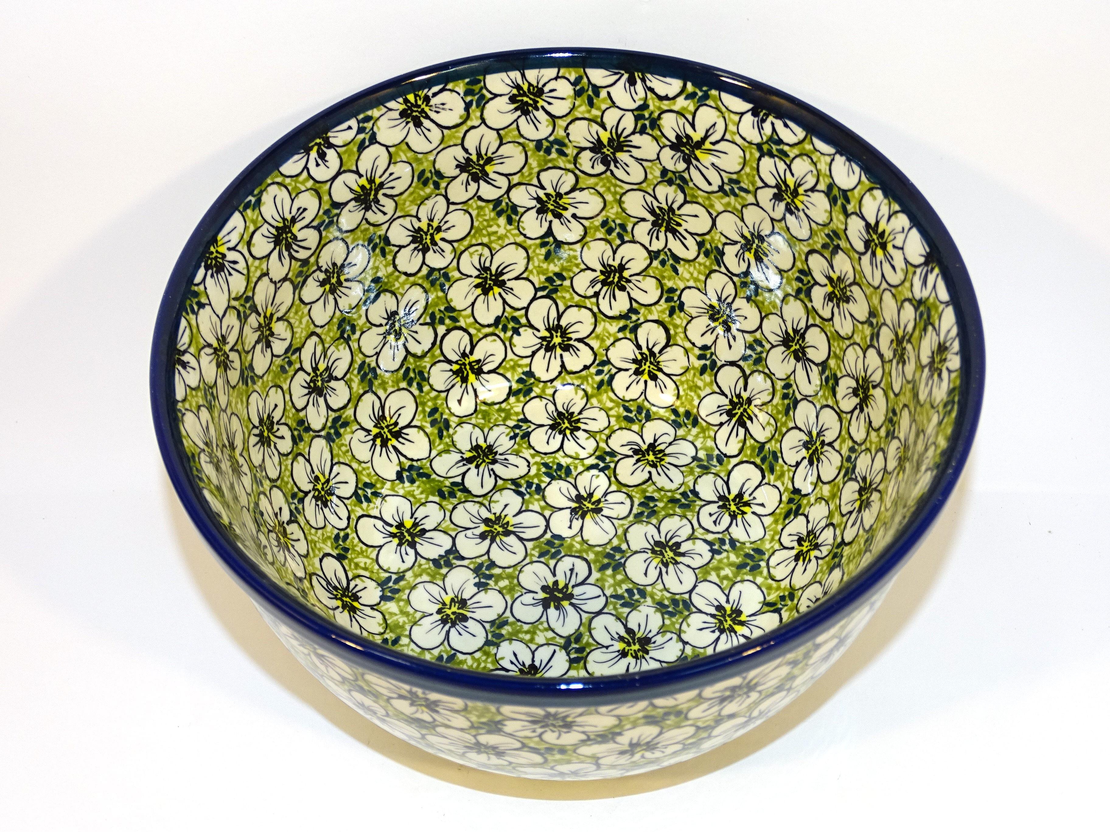 "Polish Pottery 8"" BACOPA Stoneware Mixing Bowl | UNIKAT"
