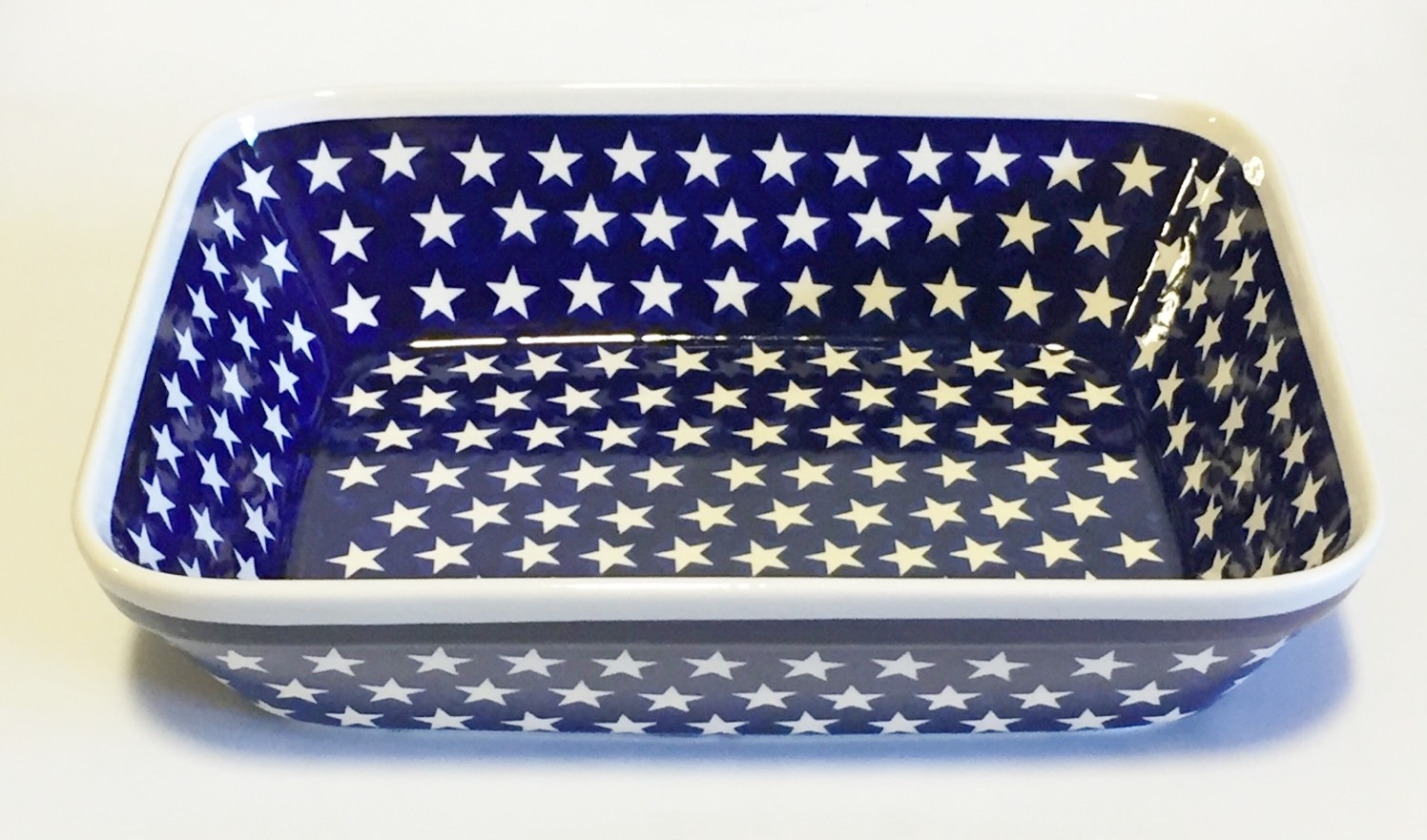 "Polish Pottery 12"" STARS Rectangle Stoneware Serving Tray 