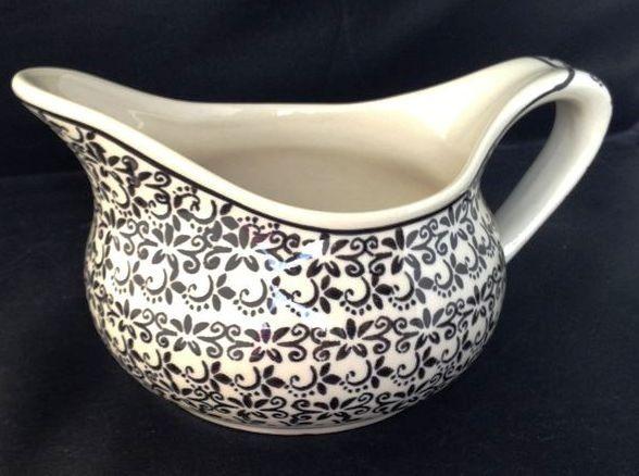 Polish Pottery 2 Cup ELEGANT TIMES Gravy Boat | CLASSIC