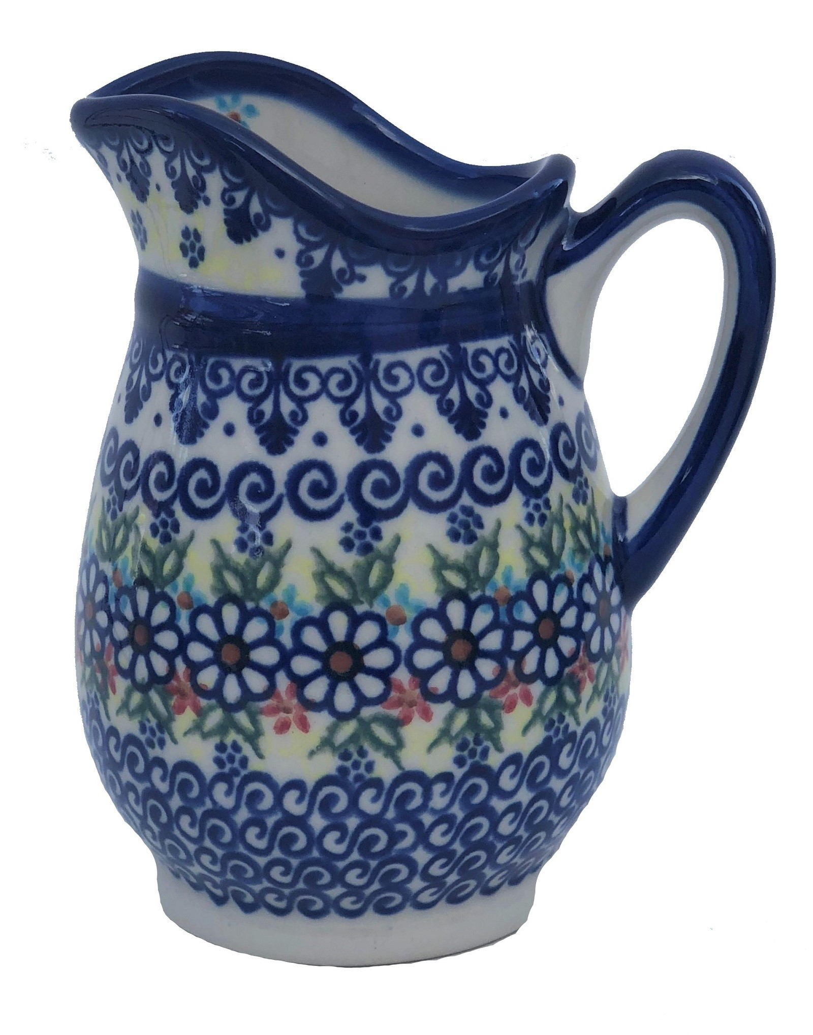 """Polish Pottery Vena Jann 4"""" Stoneware Pitcher (SM)"""