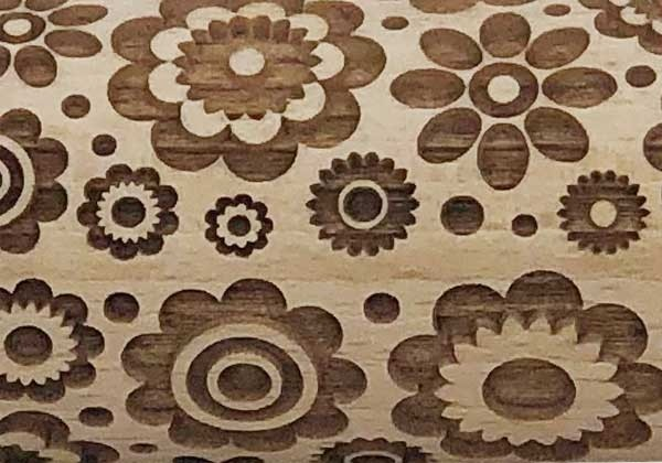Pottery Avenue Brings Wooden Corner's Embossed Rolling Pin - SEP-017-Medium Boho Flower