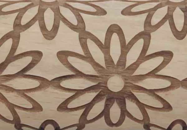 Pottery Avenue Brings Wooden Corner's Embossed Rolling Pin - SEP-021-Sunflower