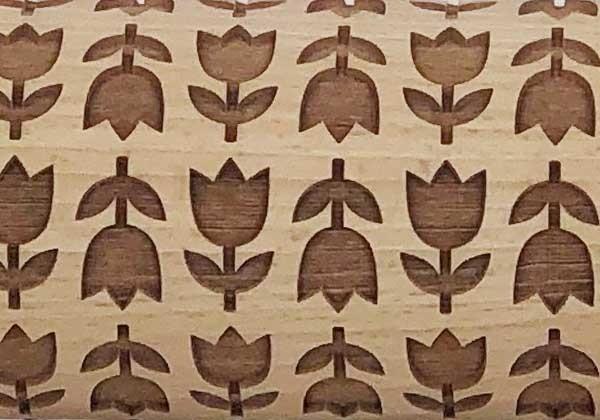 Pottery Avenue Brings Wooden Corner's Embossed Rolling Pin - SEP-026-Tulip