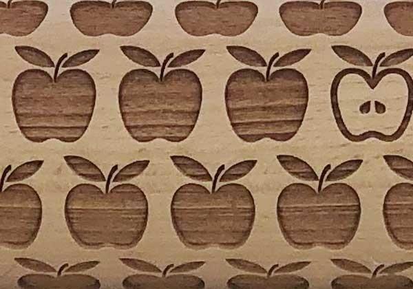 Pottery Avenue Brings Wooden Corner's Embossed Rolling Pin - SEP-120-Apple Pie