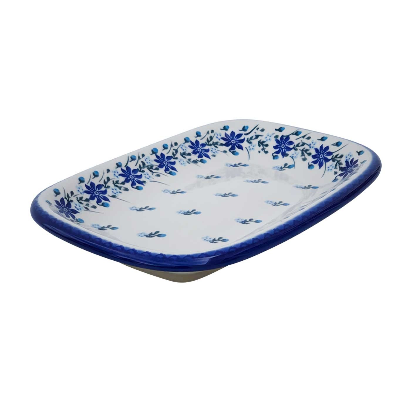 Polish Pottery Stoneware Rectangular Platter (MD) - V120-C106 STAR GAZER