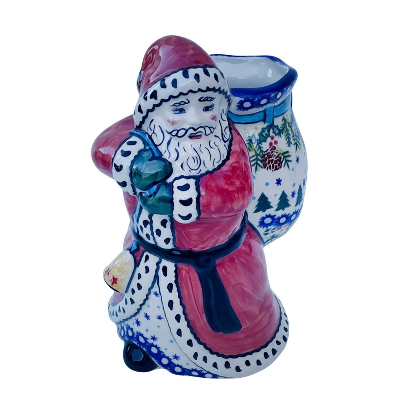 SANTA CLAUS W// Bag of TOYS LARGE PORCELAIN CHRISTMAS FIGURINE 8/'/'
