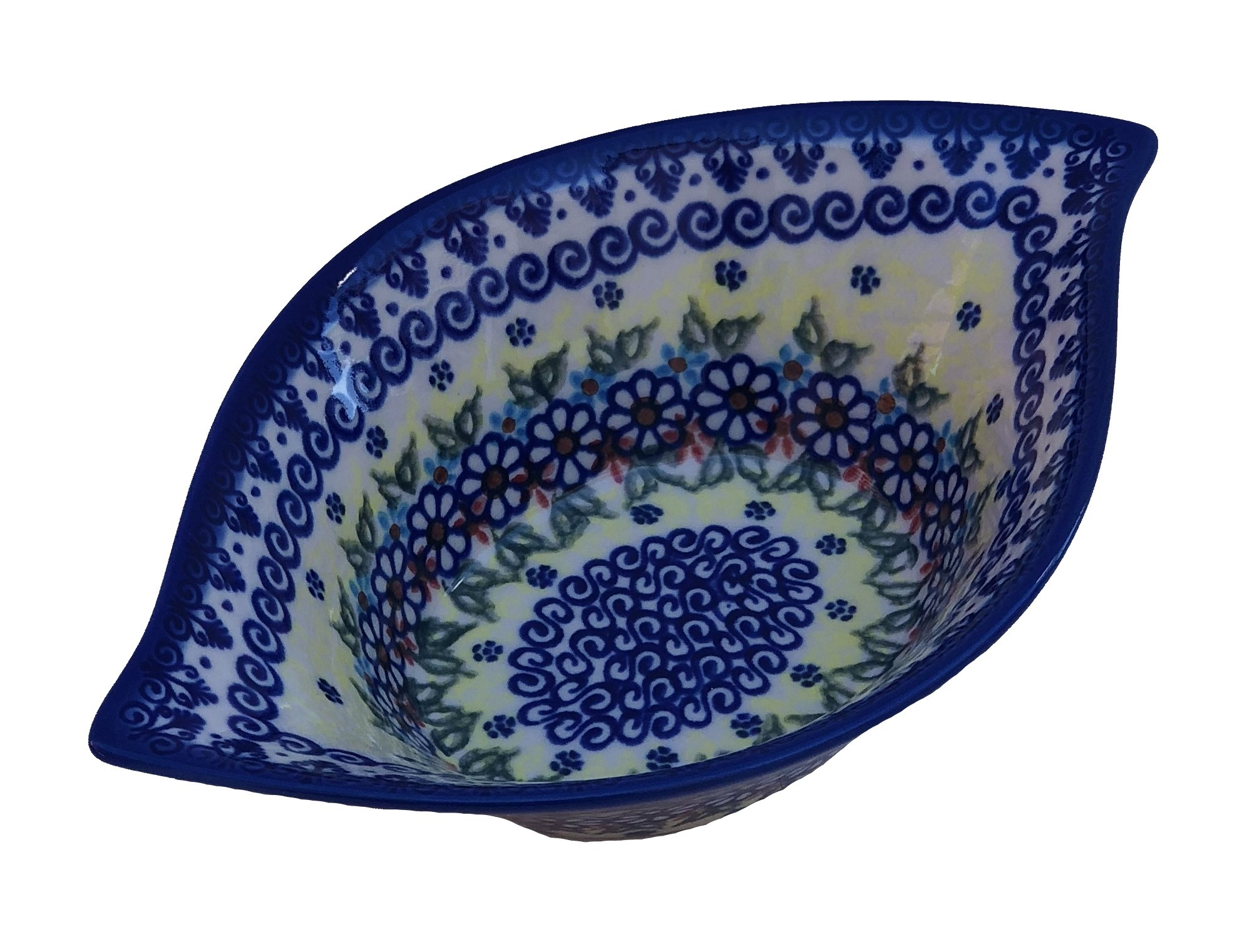 "Pottery Avenue Vena Joann 8"" Swirl Flared Stoneware Bowl"