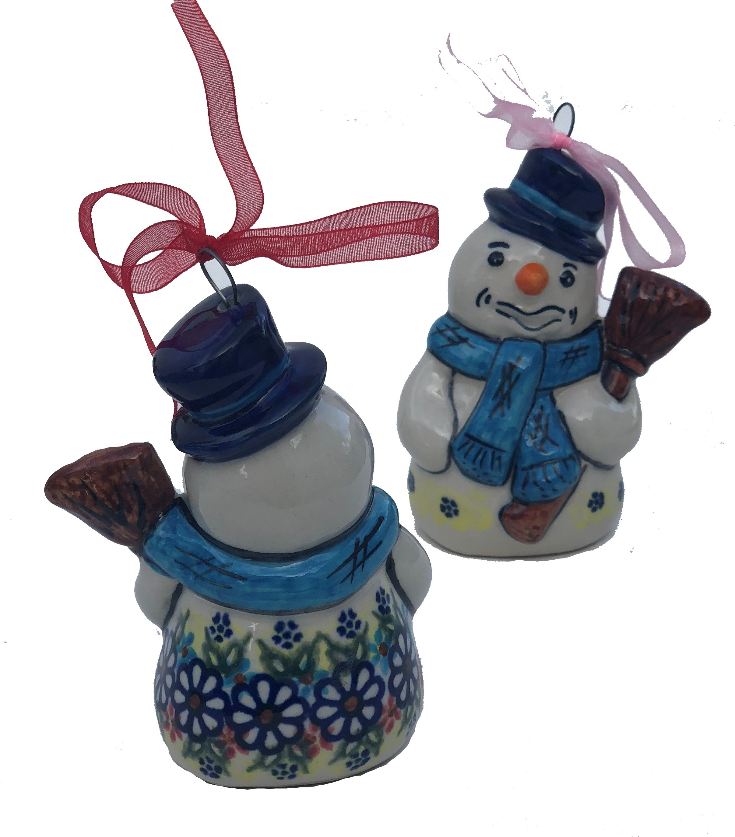 "Pottery Avenue Vena Joann 4"" Snowman Stoneware Ornament"