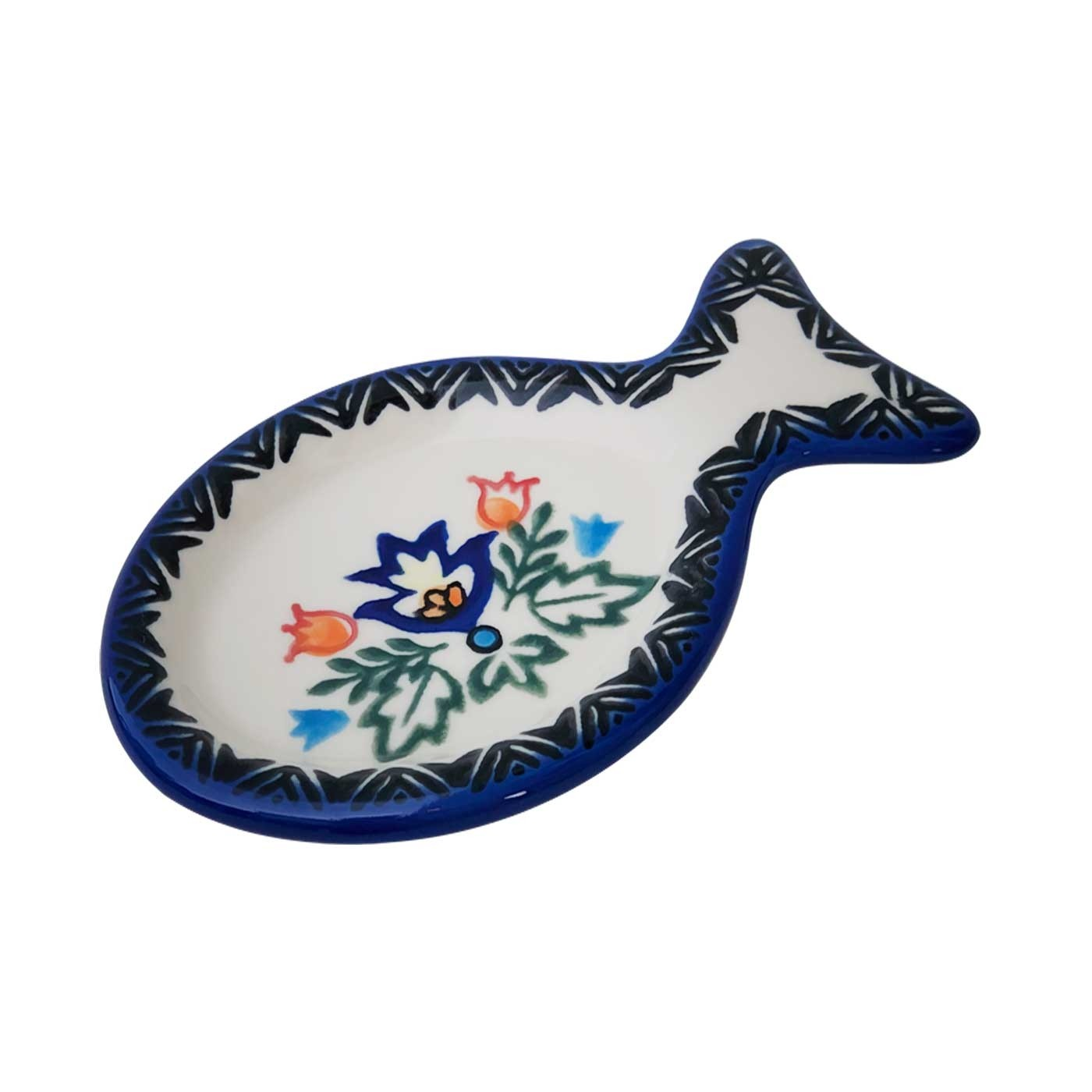 Pottery Avenue Stoneware Tea Caddy-Spoon Rest - V441-U289 SIMPLE FOLK