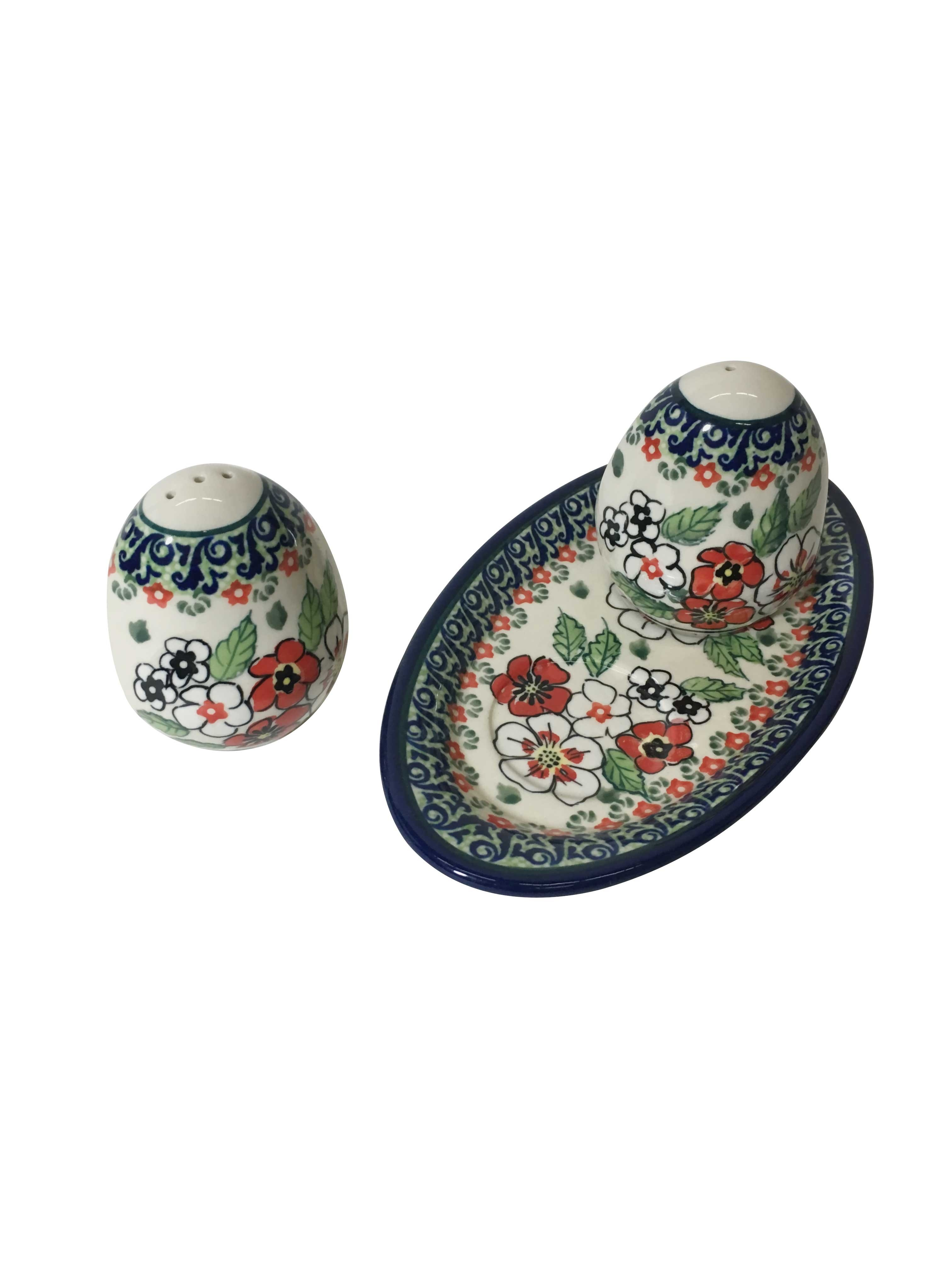 Pottery Avenue Empress 3pc Stoneware Salt and Pepper Trio Set