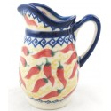 Polish Pottery Vena RED HOT 4� Stoneware Pitcher | UNIKAT