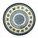 "Polish Pottery 7.75"" DEAREST FRIENDS Stoneware Salad Plate 