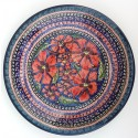 "Polish Pottery CHERISHED FRIENDS 9.75"" Luncheon-Dinner Stoneware Plate 