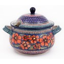 Polish Pottery CHERISHED FRIENDS 12.5-Cup Stoneware Soup Tureen | UNIKAT