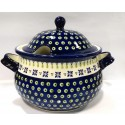 Polish Pottery DROPS OF JOY 12.5-Cup Stoneware Soup Tureen | CLASSIC