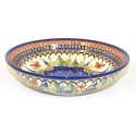 "Polish Pottery STRAWBERRY BUTTERFLY 10"" All Purpose Stoneware Bowl 