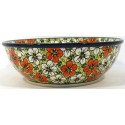 "Pottery Avenue 10"" RED BACOPA All Purpose Stoneware Bowl"