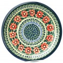 "Polish Pottery PASSION 11"" Stoneware Dinner Plate 